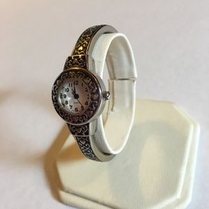 NWT 'Love' Bangle Watch in Sterling Silver